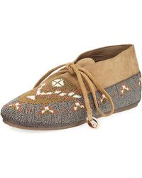 Figue - Wolf Beaded Moccasin Flat - Lyst