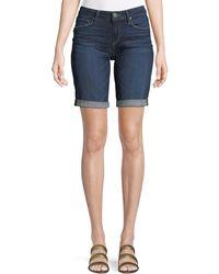 PAIGE - Jax Knee-length Denim Shorts - Lyst