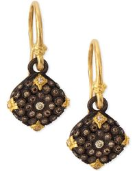 Armenta - Old World Midnight Diamond Cushion Earrings - Lyst