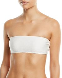 Marie France Van Damme - Rafia Bandeau Two-piece Swimsuit - Lyst