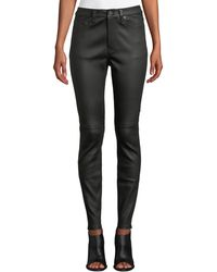 Equipment - The Skinny Leather Trousers - Lyst