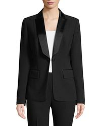 Elie Tahari - Lorelei One-button Tuxedo Jacket - Lyst