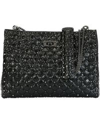 Valentino Rockstud Spike Crinkled Shoulder Bag TPYIQXdMyj