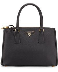 Prada - Saffiano Small Lux Double-zip Tote Bag - Lyst