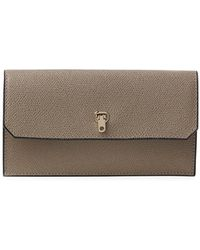 Valextra - Textured Leather Flap Wallet - Lyst