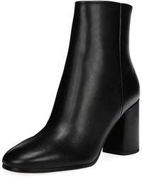 Diane von Furstenberg - Robyn Leather Block-heel Boots - Lyst