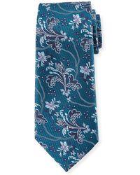 Ermenegildo Zegna - Large Floral Silk Tie - Lyst