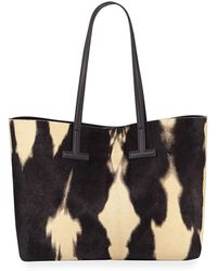 aa228d4ba8866 Tom Ford Ava Medium Structured Leather Tote Bag - Lyst