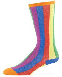 Burberry - Kids' Tall Striped Socks - Lyst