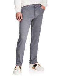 Ermenegildo Zegna - Men's Slim-leg Stretch-denim Jeans - Lyst