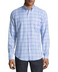 Tom Ford - Plaid Cotton Sport Shirt - Lyst
