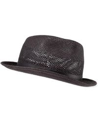 Paul Smith - Men's Perforated Straw Panama Trilby Hat - Lyst