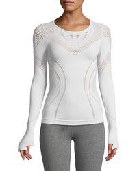 Alo Yoga - Lark Long-sleeve Mesh Top - Lyst