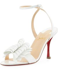 9bc57c66f148 Christian Louboutin - Miss Valois 85 Red Sole Sandal - Lyst