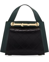 Carven - Colorblock Leather Doctor's Tote Bag - Lyst
