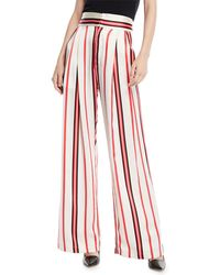 Maggie Marilyn - Love Unconditionally Striped Silk Wide-leg Pants - Lyst