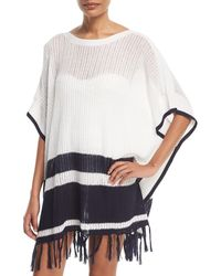Tommy Bahama - Linen-cotton Striped Poncho Coverup - Lyst