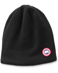 f033a4ea254 Canada Goose - Men s Standard Logo Toque Winter Beanie Hat - Lyst