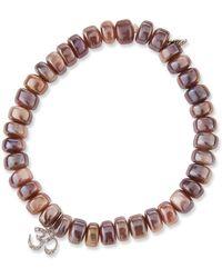 Sydney Evan - Mauve Moonstone & Diamond Om Bracelet - Lyst