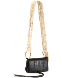 Stella McCartney - Alter Snake Crocheted Shoulder Bag - Lyst
