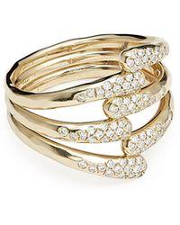 Ippolita - 18k Stardust Diamond Overlap Ring - Lyst