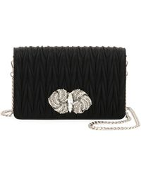 Miu Miu - Matelassé Raso Satin Flap Crossbody Bag - Lyst