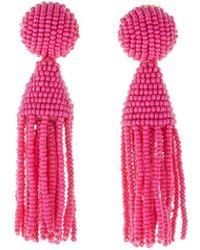 Oscar de la Renta - Classic Short Tassel Clip-on Earrings - Lyst