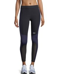 Monreal London - Sprinter Full-length Colorblocked Leggings With Mesh - Lyst