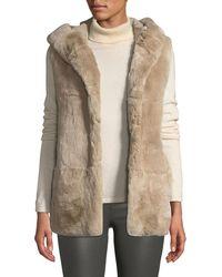 Belle Fare - Hooded Fur Vest - Lyst