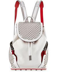 Christian Louboutin | Explorafunk Studded Leather Backpack | Lyst