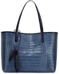Nancy Gonzalez - Erica Crocodile Shopper Tote Bag - Lyst