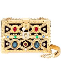 94aecce64d00 Dolce   Gabbana - Jeweled Framed Box Clutch Bag - Lyst