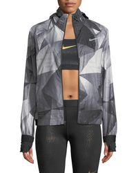 Nike - Shield Flash Convertible Running Jacket - Lyst
