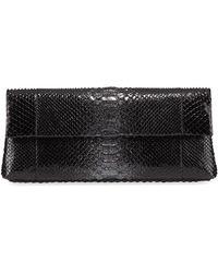 Nancy Gonzalez - Gotham Metallic Python Flap Clutch Bag - Lyst