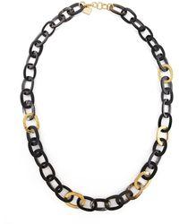 Ashley Pittman - Bronze & Horn Link Mara Necklace - Lyst
