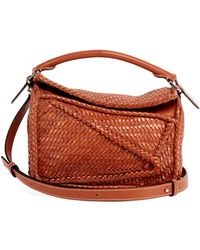 Loewe - Puzzle Small Woven Leather Shoulder Bag - Lyst