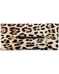 Tom Ford - Ava Ghepardo Leopard-print Calf Hair Pochette Clutch Bag - Lyst
