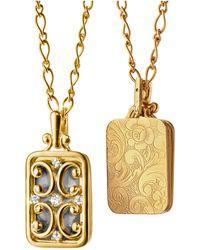 Monica Rich Kosann - Gate Locket Necklace With Diamonds - Lyst