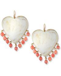 Ashley Pittman - Landa Heart Earrings In Light Horn - Lyst