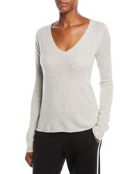 ATM - Cashmere V-neck Long-sleeve Sweater - Lyst