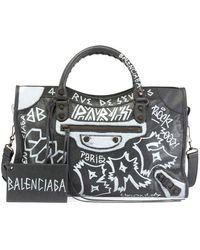 Balenciaga - Classic City Aj Graffiti-print Satchel Bag - Lyst