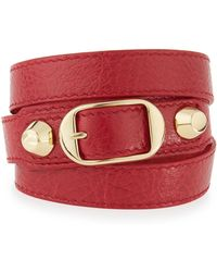 Balenciaga - Classic Leather Wrap Bracelet - Lyst