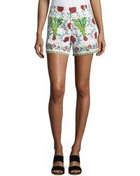 Le Sirenuse - Floral-print Cotton Shorts - Lyst