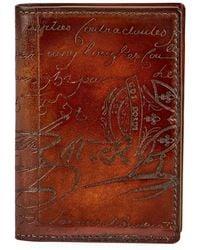 Berluti - Jagua Scritto Leather Card Case - Lyst