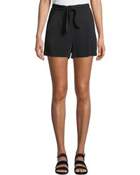 A.L.C. - Kerry High-waist Tie-front Shorts - Lyst