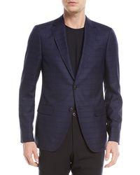 Z Zegna - Check Wool-silk Jacket - Lyst