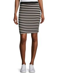 ATM - Striped Jersey Pencil Skirt - Lyst