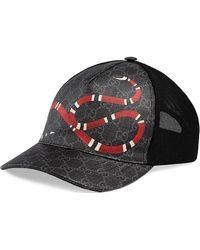 df4796132b295 Gucci - Men s Snake Baseball Cap - Black Black - Lyst