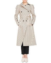 Altuzarra - Striped Cotton Trench Coat - Lyst