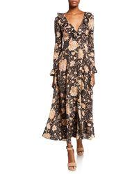 29d5fc88c4a Zimmermann Laeila Floral Printed Linen Dress - Lyst